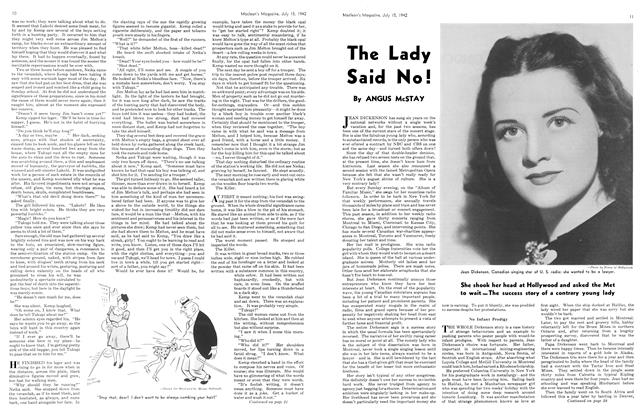 Article Preview: The Lady Said No!, July 1942 | Maclean's