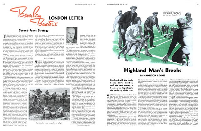 Article Preview: Highland Man's Breeks, July 1942 | Maclean's
