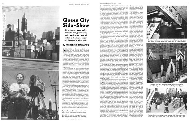 Article Preview: Queen City Side-Show, August 1942 | Maclean's
