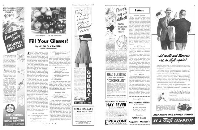Article Preview: Fill Your Glasses!, August 1942 | Maclean's