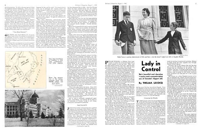 Article Preview: Lady in Control, August 1942 | Maclean's