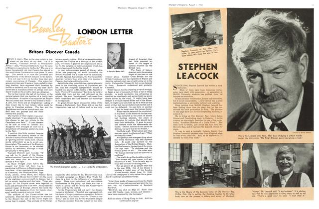 Article Preview: Beverley Baxter's LONDON LETTER, August 1942 | Maclean's