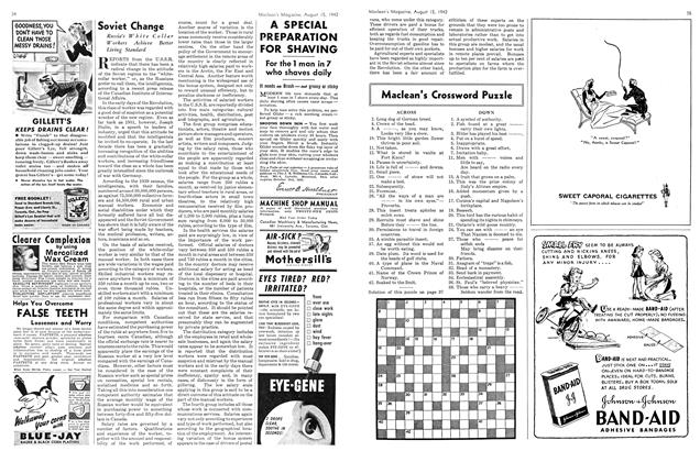 Article Preview: Maclean's Crossword Puzzle, August 1942 | Maclean's