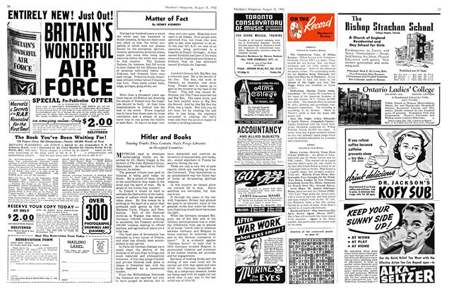 Article Preview: Matter of Fact, August 1942 | Maclean's