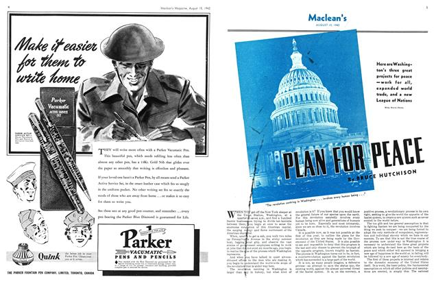 Article Preview: PLANE FOR PEACE, August 1942 | Maclean's