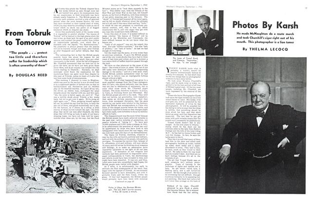 Article Preview: Photos By Karsh, September 1942 | Maclean's