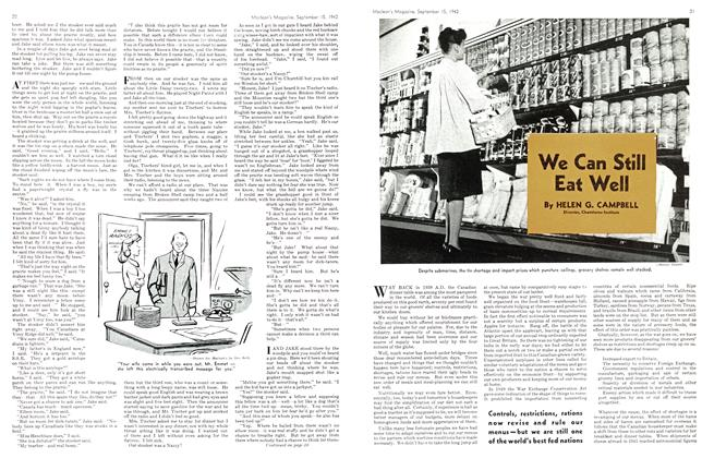 Article Preview: We Can Still Eat Well, September 1942 | Maclean's