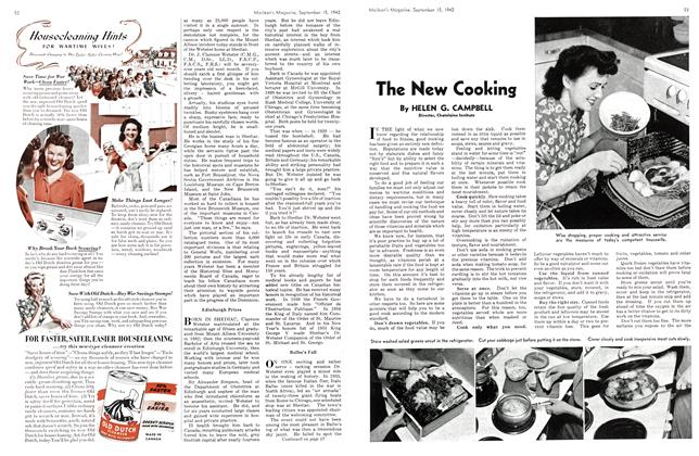Article Preview: The New Cooking, September 1942 | Maclean's