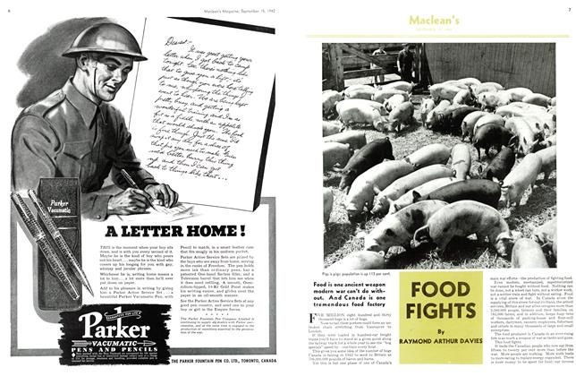 Article Preview: FOOD FIGHTS, September 1942 | Maclean's