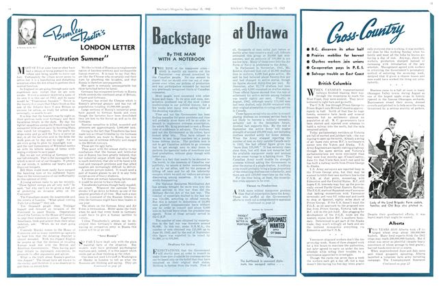 Article Preview: Backstage at Ottawa, September 1942 | Maclean's