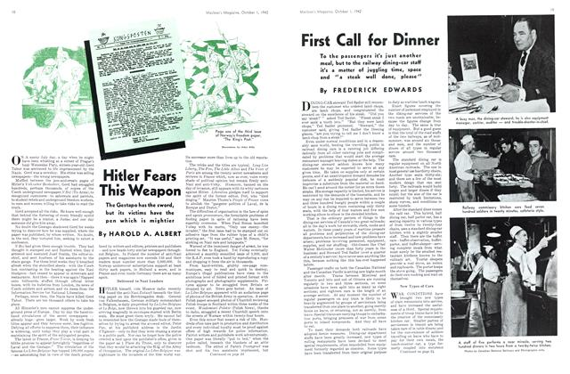 Article Preview: First Call for Dinner, October 1942 | Maclean's