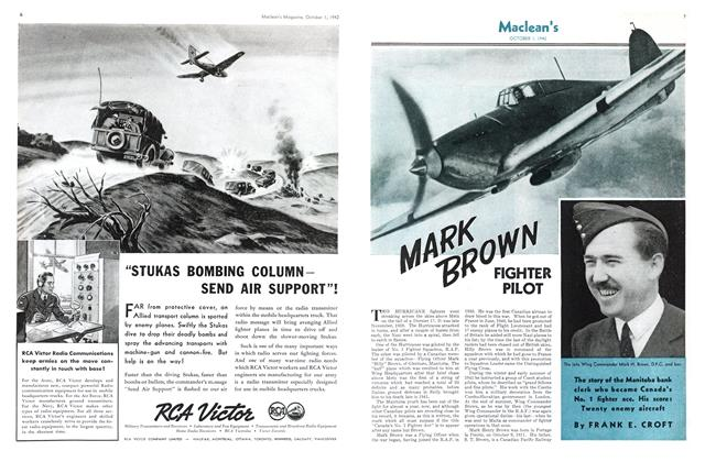 Article Preview: MARK BROWN FIGHTER PILOT, October 1942 | Maclean's