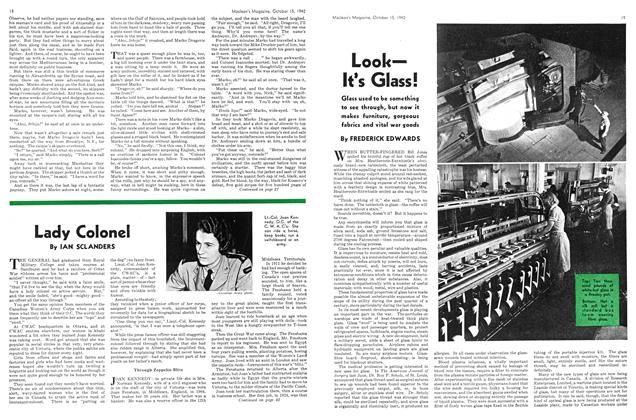 Article Preview: Look— It's Glass!, October 1942 | Maclean's