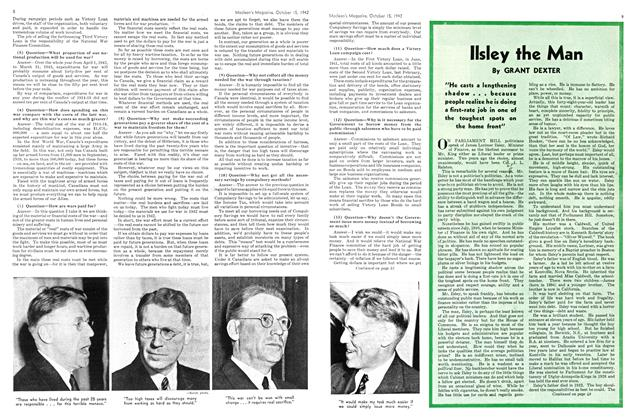 Article Preview: llsley the Man, October 1942 | Maclean's