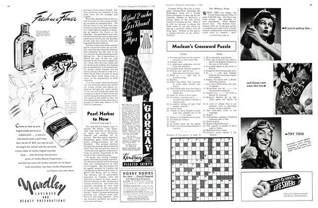 Article Preview: Maclean's Crossword Puzzle, November 1942 | Maclean's