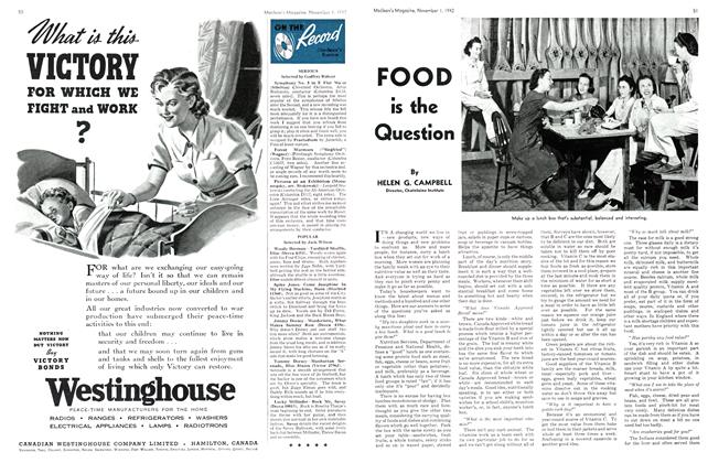 Article Preview: FOOD is the Question, November 1942 | Maclean's