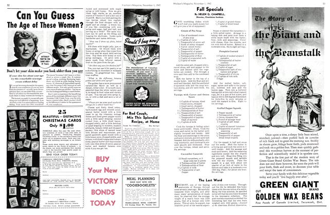 Article Preview: Fall Specials, November 1942 | Maclean's