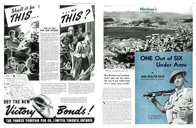 Article Preview: ONE Out of SIX Under Arms, November 1942 | Maclean's