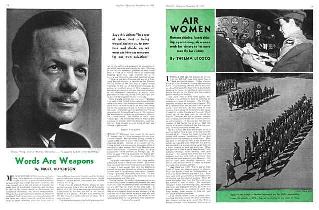 Article Preview: AIR WOMEN, November 1942 | Maclean's