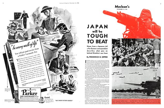 Article Preview: JAPAN will be TOUGH TO BEAT, November 1942 | Maclean's