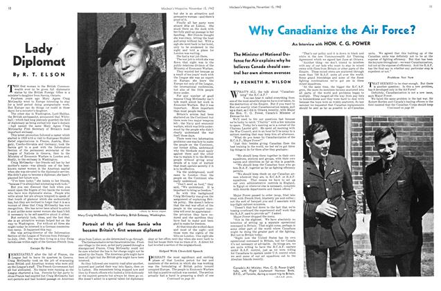 Article Preview: Lady Diplomat, November 1942 | Maclean's