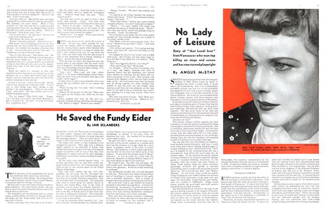 Article Preview: No Lady of Leisure, December 1942 | Maclean's