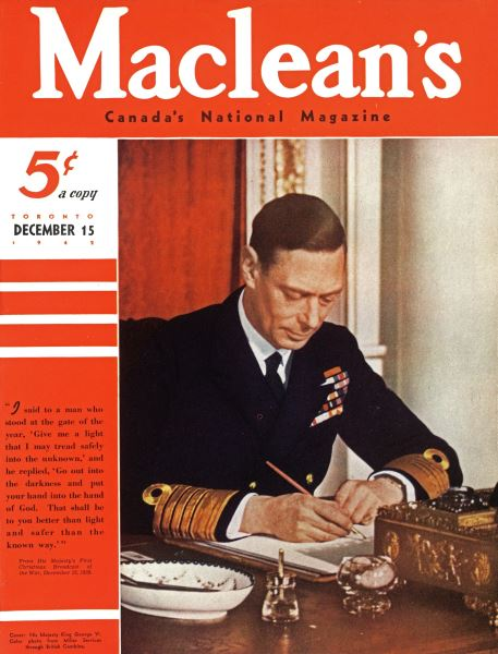Issue: - TORONTO DECEMBER 15 1942 | Maclean's