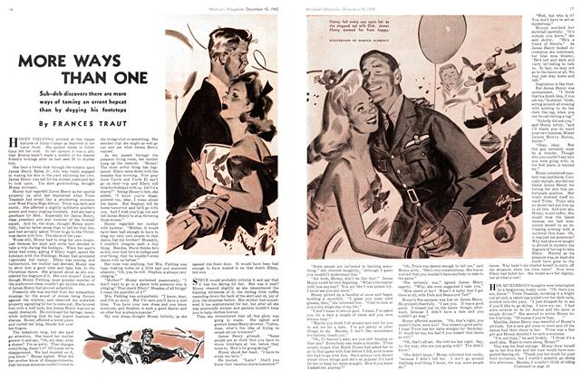 Article Preview: MORE WAYS THAN ONE, TORONTO DECEMBER 15 1942 1942 | Maclean's
