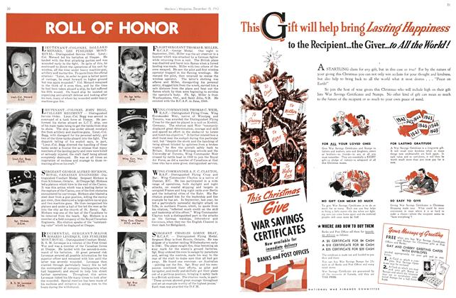 Article Preview: ROLL OF HONOR, TORONTO DECEMBER 15 1942 1942 | Maclean's