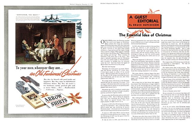 Article Preview: A GUEST EDITORIAL, TORONTO DECEMBER 15 1942 1942 | Maclean's