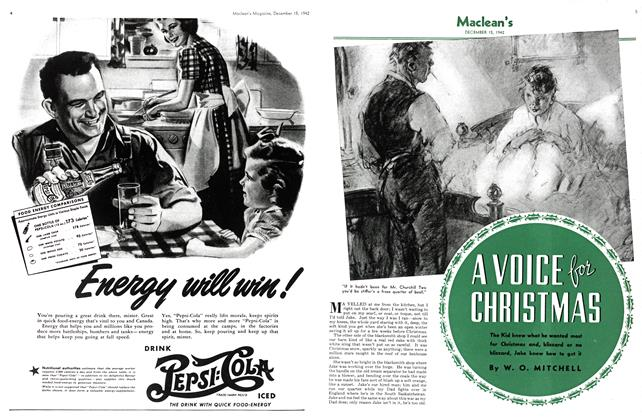 Article Preview: A VOICE for CHRISTMAS, TORONTO DECEMBER 15 1942 1942 | Maclean's
