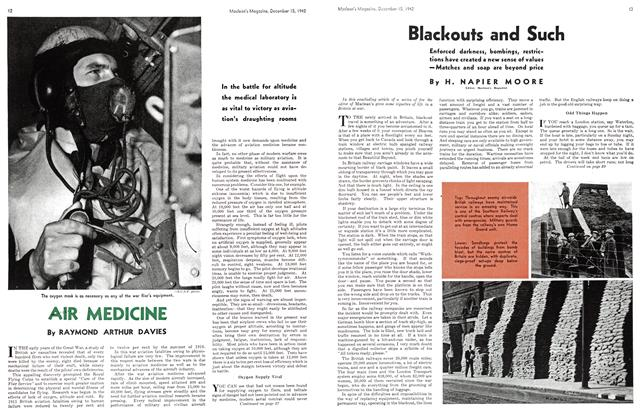 Article Preview: Blackouts and Such, TORONTO DECEMBER 15 1942 1942 | Maclean's