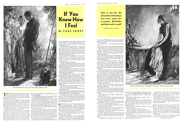 Article Preview: If You Knew How I Feel, January 1943 | Maclean's