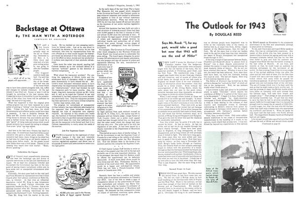 Article Preview: The Outlook for 1943, January 1943 | Maclean's