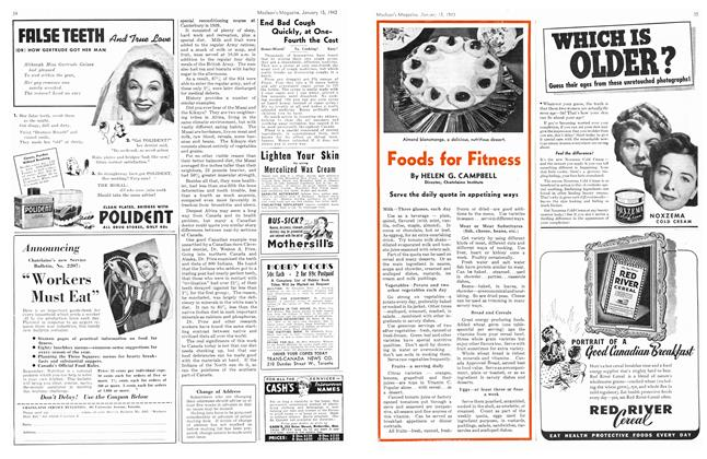 Article Preview: Foods for Fitness, January 1943 | Maclean's