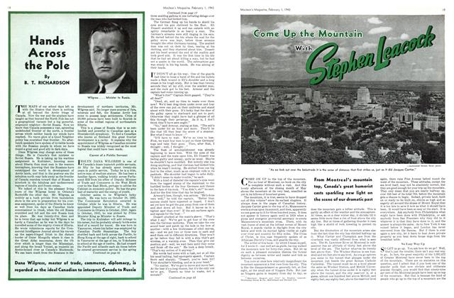 Article Preview: Come Up With the Mountain, October 1943 | Maclean's