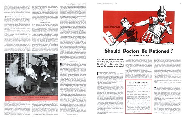 Article Preview: Should Doctors Be Rationed?, October 1943 | Maclean's
