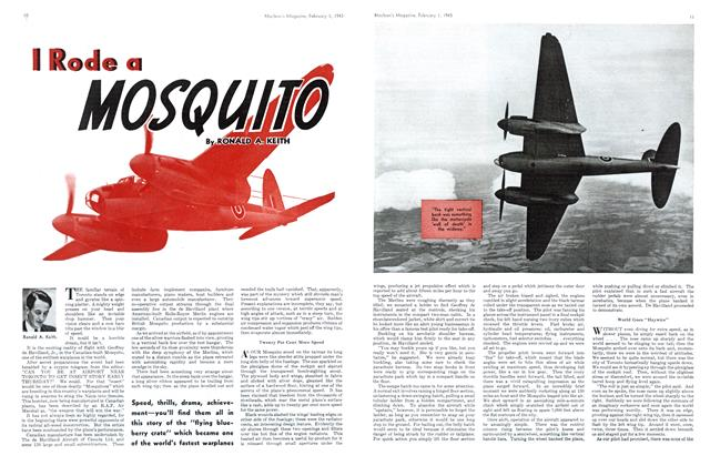 Article Preview: I Rode a MOSQUITO, October 1943 | Maclean's