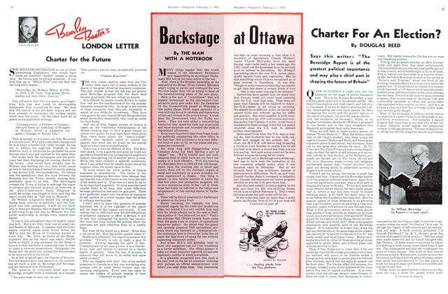 Article Preview: Charter For An Election?, October 1943 | Maclean's