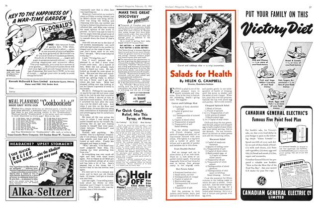 Article Preview: Salads for Health, February 1943 | Maclean's