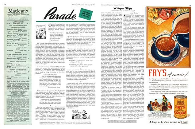 Article Preview: Parade, February 1943 | Maclean's