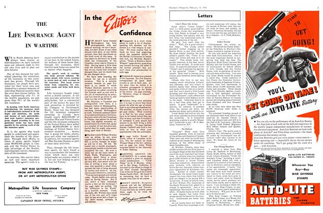 Article Preview: In the Editor's Confidence, February 1943 | Maclean's