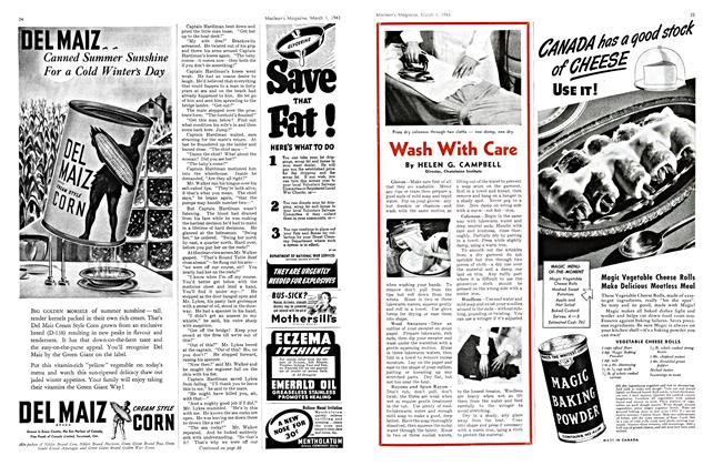 Article Preview: Wash With Care, March 1943 | Maclean's