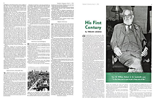 Article Preview: His First Century, March 1943 | Maclean's