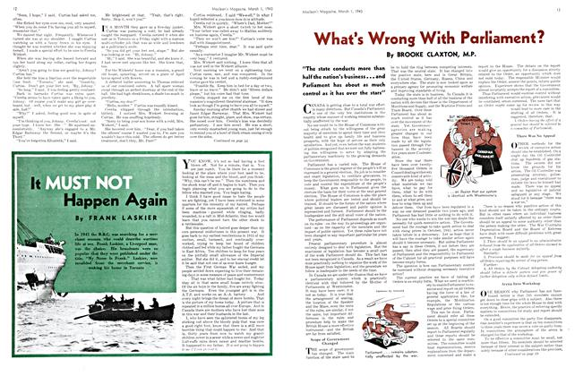 Article Preview: What's Wrong With Parliament?, March 1943 | Maclean's