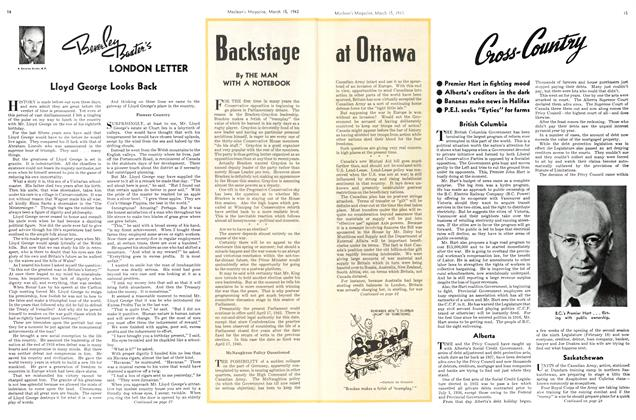 Article Preview: Backstage at Ottawa, March 1943 | Maclean's