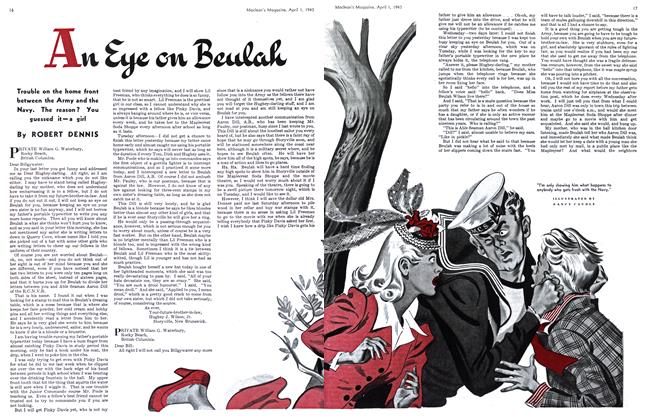 Article Preview: An Eye on Beulah, April 1943 | Maclean's