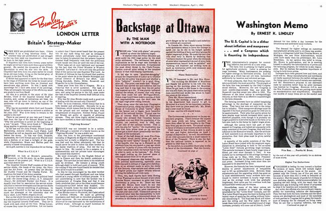 Article Preview: Washington Memo, April 1943 | Maclean's