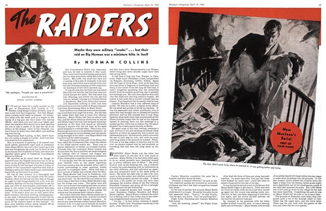 Article Preview: The RAIDERS, April 1943 | Maclean's