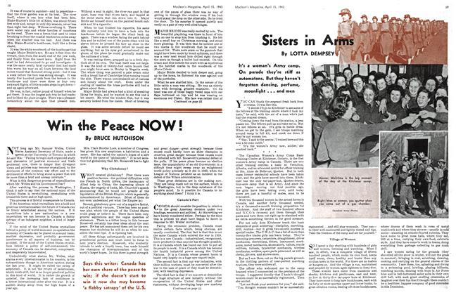 Article Preview: Sisters in Arms, April 1943 | Maclean's